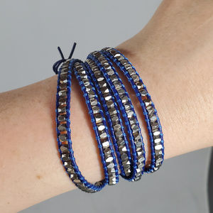 Silver & Blue wrap around Barclet